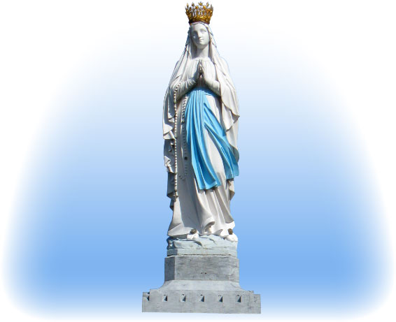 Vierge couronnée de Notre Dame de Lourdes